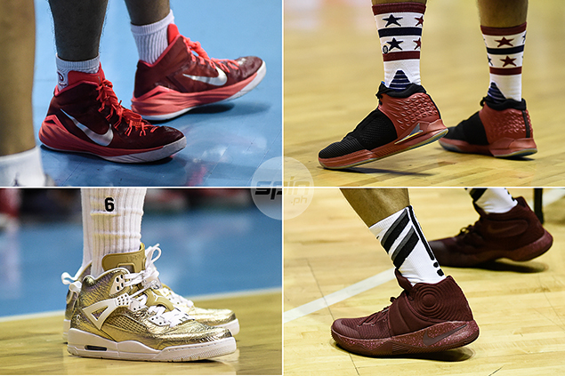 Past, present and future PBA stars busted out All-Star worthy sneakers.