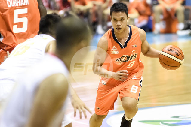 Baser amer was efficient in his first game back for meralco compiling
