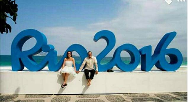 Filipino sports fans travel far to get dream wedding under bright lights of Rio Olympics