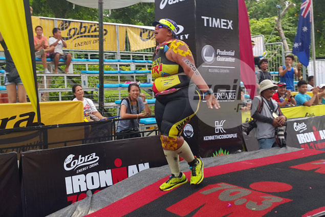 Overcoming great odds, Tin Fontillas proves last definitely not the least in Ironman 70.3 race