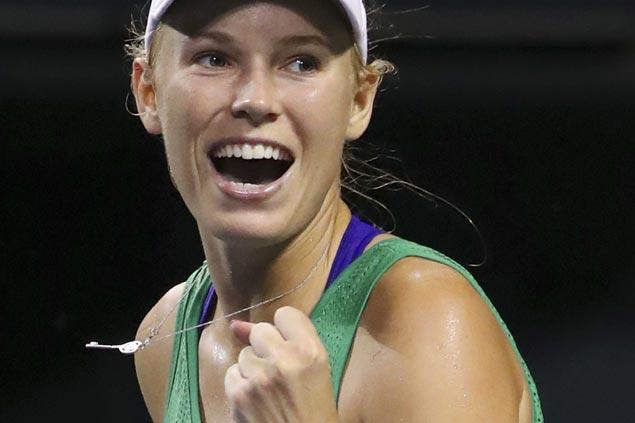 Caroline Wozniacki ousts top-seeded Karolina Pliskova to reach semifinals