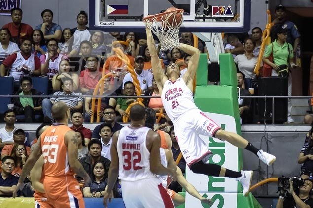 Hammer time for Japeth Aguilar
