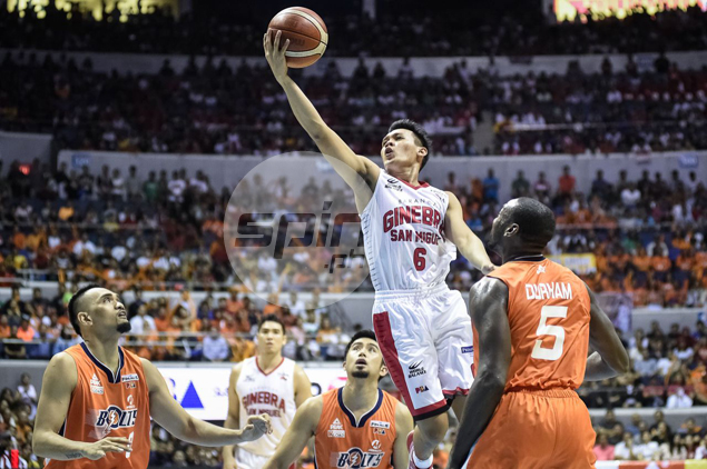 Scottie Thompson soars to the hoop.