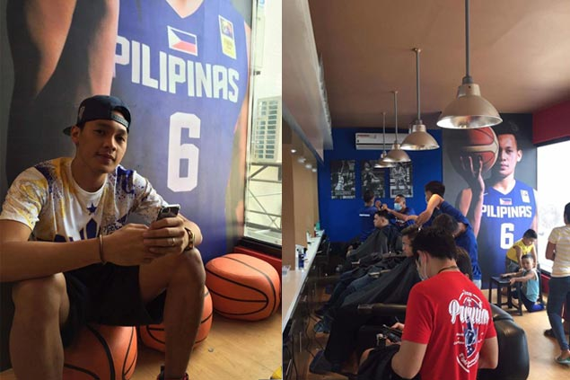 Preparing for the future, Scottie Thompson puts up barbershop in Digos City
