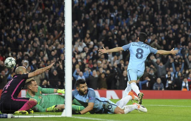 Gundogan's brace drives Man City past Barcelona 3-1