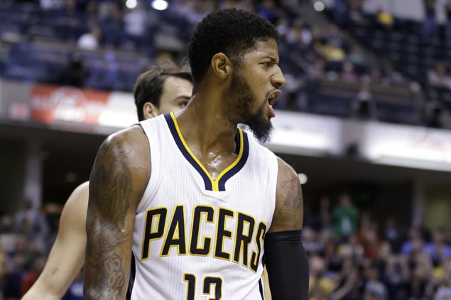 Paul George fined $15000 for kicking ball into stands