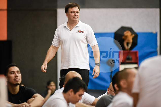 Alaska coach Alex Compton enjoying the fun-filled atmosphere.