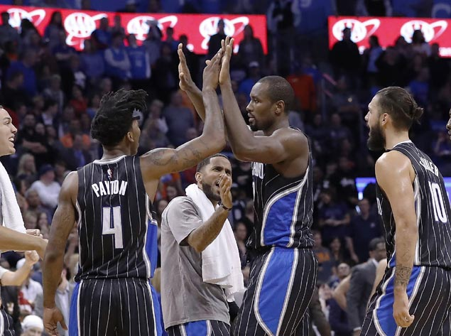 Image result for serge ibaka magic game winner 2016