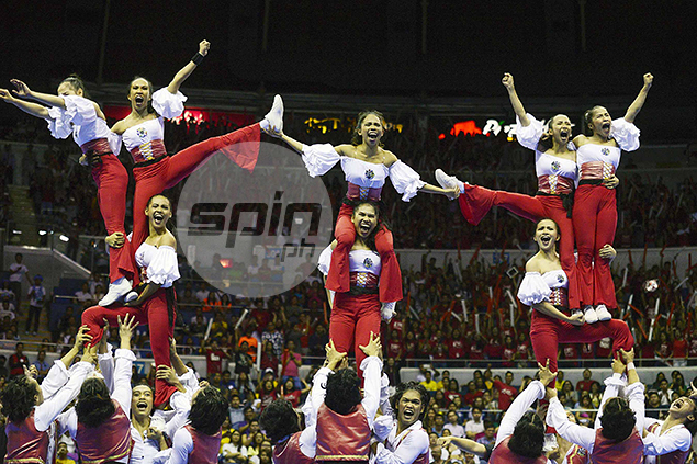 UE's cheerdancers level up.