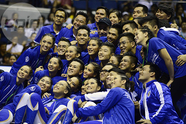 No tears, only smiles for Ateneo's pep squad.