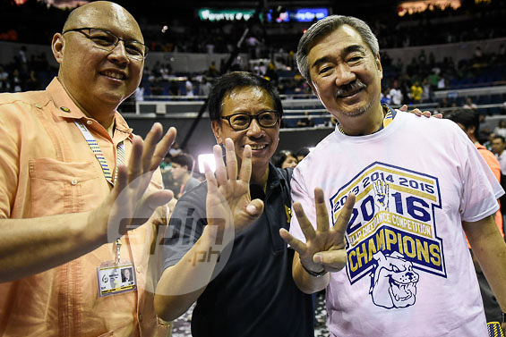 NU official Chito Loyzaga and school owner Hans Sy joins the celebration.