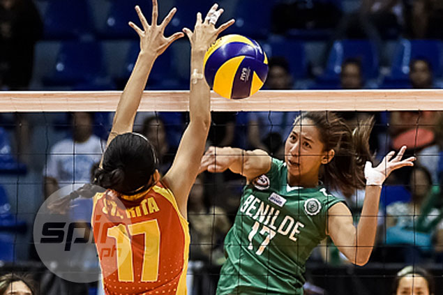 St. Benilde goes for solo lead in NCAA women's volley as Lady Blazers face Mapua Lady Cardinals