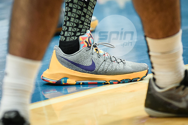 Nike KD 8 'PG County' (Prince Orizu - FEU) – Inspired by Kevin Durant's hometown in Maryland, the PG stands for Prince George. Durant grew up in Prince George's County.
