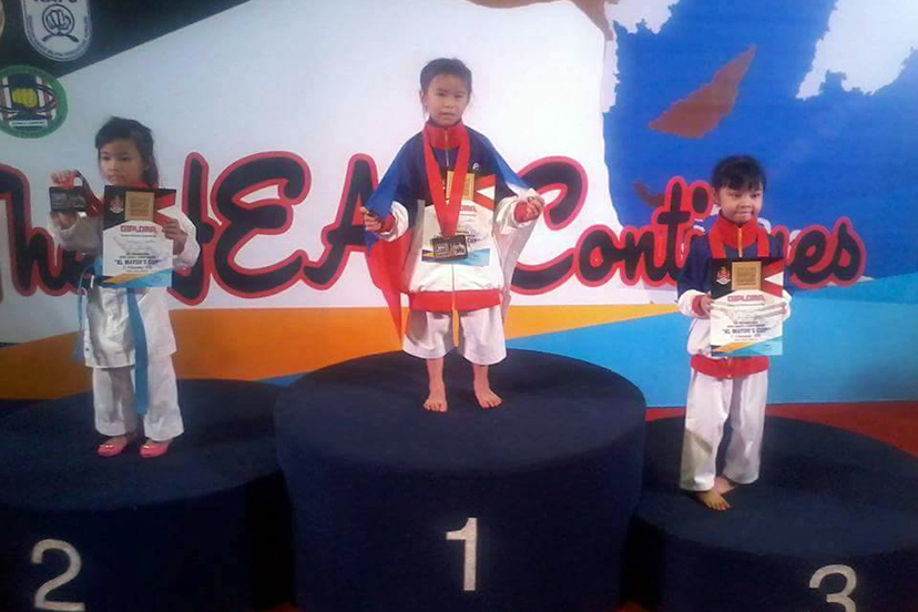 Six-year-old Atsuko Kaiyel Tan shows big heart in winning gold in Malaysia Karatedo tourney