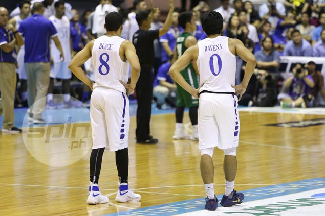 Aaron Black and Thirdy Ravena fired blanks.