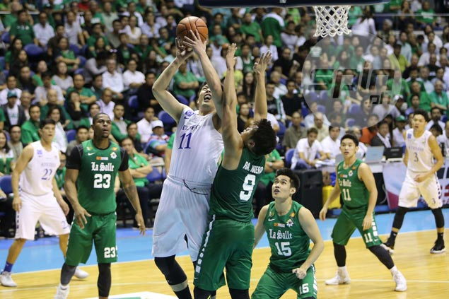 Isaac Go put up a fight for the Blue Eagles.