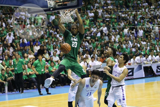 Ben Mbala remained unstoppable for La Salle.