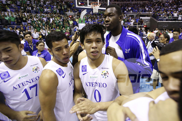 Ravena in tears as the Ateneo season ends in heartbreak.