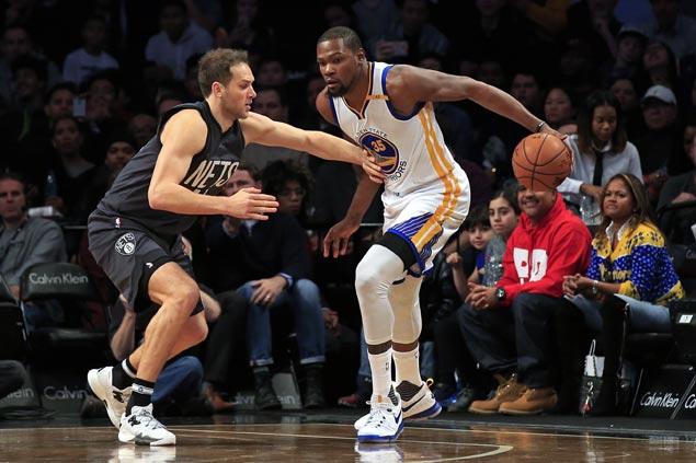 NBA Wrap: Durant, Thompson help Warriors cruise past Nets