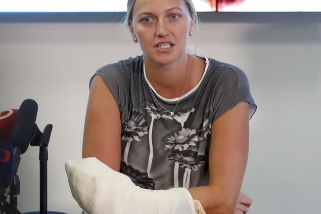 news tennis petra kvitova back practising after hand injury