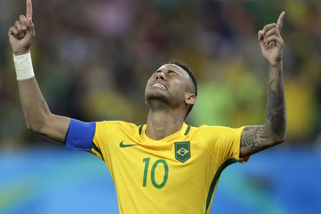 Neymar says Rio penalty for Brazil's first football Olympic gold 'most nervous moment of my life'