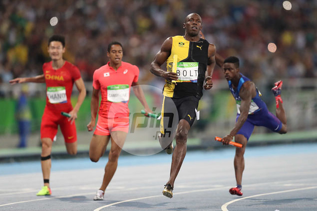 Usain Bolt blows by the competition.