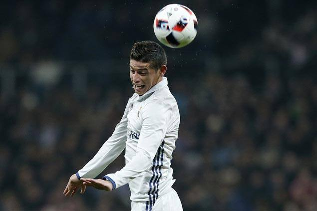 James Rodriguez scores double on rare start as Madrid rips ...