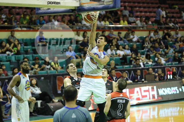 Troy Rosario's one-handed follow-up dunk caps inspired performance by new daddy