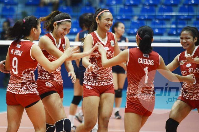 San Beda averts collapse, outlasts winless Mapua in five sets to secure playoff for Final Four spot