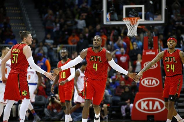 Paul Millsap makes go-ahead layup as Hawks outsteady Knicks in quadruple overtime thriller