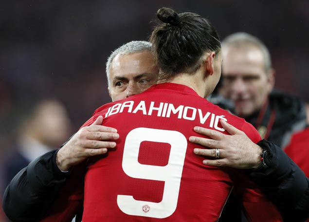 After cup win, Mourinho hopes Ibrahimovic stays at United