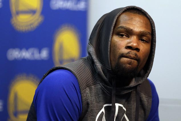 Warriors' Kevin Durant (calf) hopes to play in Game 3 on Saturday