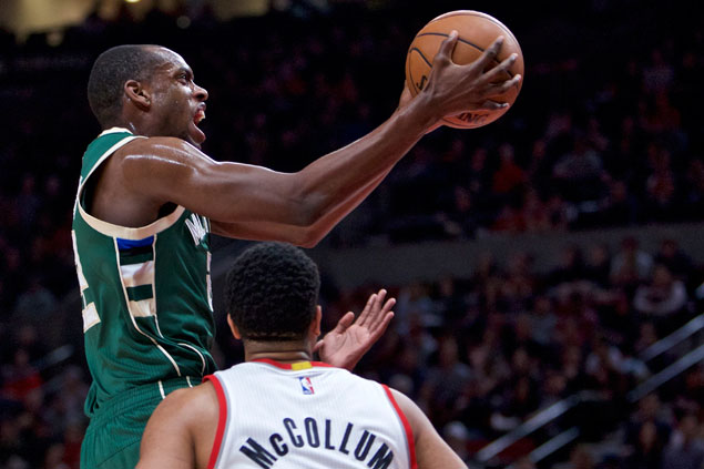 Bucks move up in playoff position at Blazers' expense