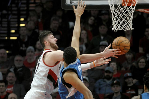 Trail Blazers ease to victory and send Timberwolves to sixth straight loss