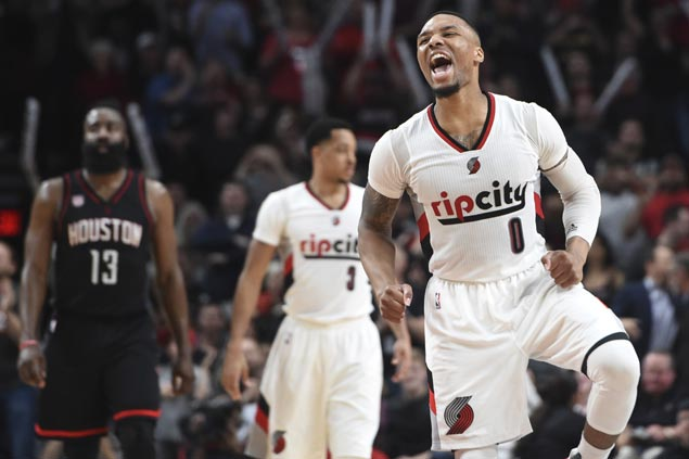 Blazers blow 13-point fourth quarter lead but recover late to fend off skidding Rockets