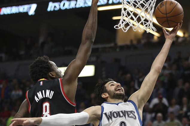 Double-doubles by KAT, Rubio power Timberwolves to victory over Blazers