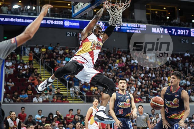 San Miguel depth shines in rout vs Rain or Shine as unbeaten Beermen win fifth straight game