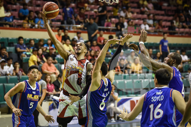 San Miguel shakes off rust to clinch PBA playoff berth at expense of rejigged NLEX