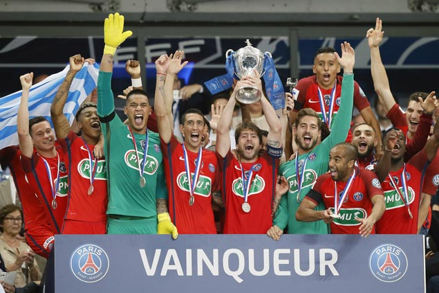PSG wins French Cup scraping 1-0 win against Angers