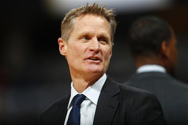 Warriors' Kerr will not coach Game 1 of NBA Finals