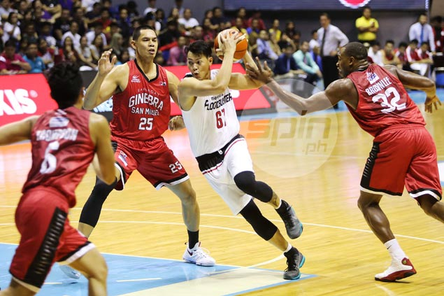 Pacquiao cousin makes PBA debut, three years after being picked in draft