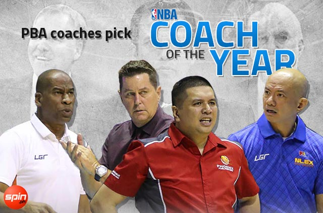 PBA coaches vote 3-2-1 (Spo-D'Antoni-Popovich) in NBA Coach of the Year race