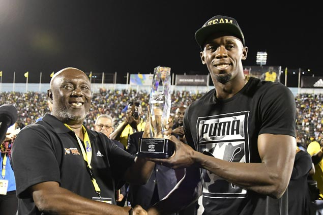 Home fans pay tribute as Usain Bolt bids farewell to the tracks of Jamaica