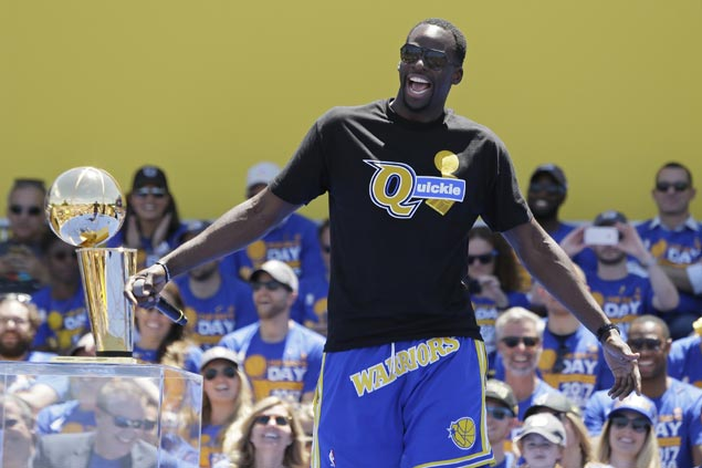 Draymond wears T-shirt trolling Cavaliers at Warriors parade