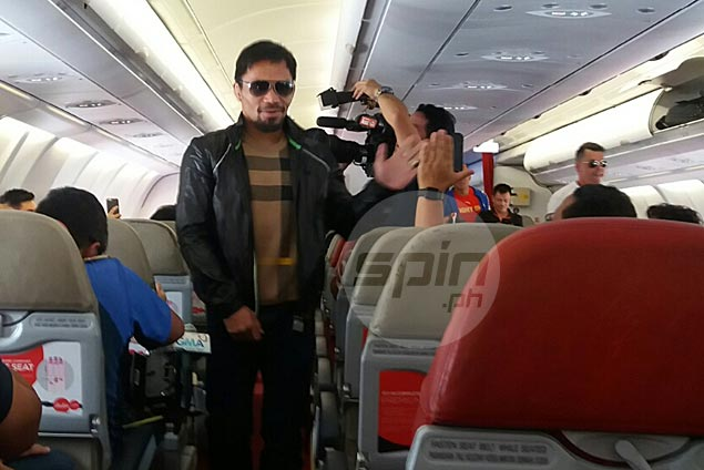 Manny Pacquiao leaves for Australia over a week ahead of title showdown with Jeff Horn