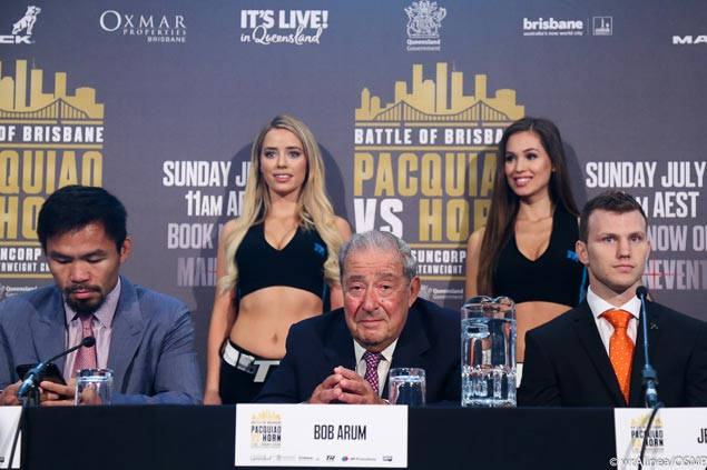 Pacquiao texting still in mind of ex-school teacher Jeff Horn: 'He'll definitely be in trouble in my class if he's doing that'