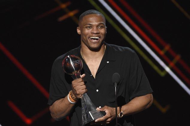Russell Westbrook picked ESPYS top athlete over Michael Phelps, Kris Bryant, Sidney Crosby