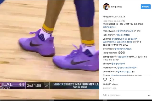 Lonzo Ball wears Kobe shoes, ribbed by LeBron, plays like Magic in 36-11-8-5-2 game