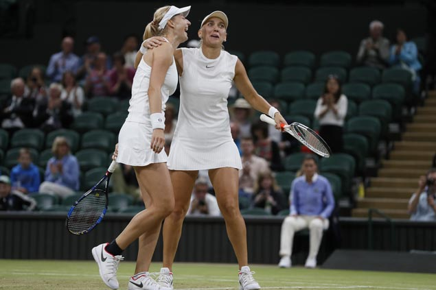 Ekaterina Makarova Elena Vesnina serve up double-bagel against Chan Hao-ching Monica Niculescu in final