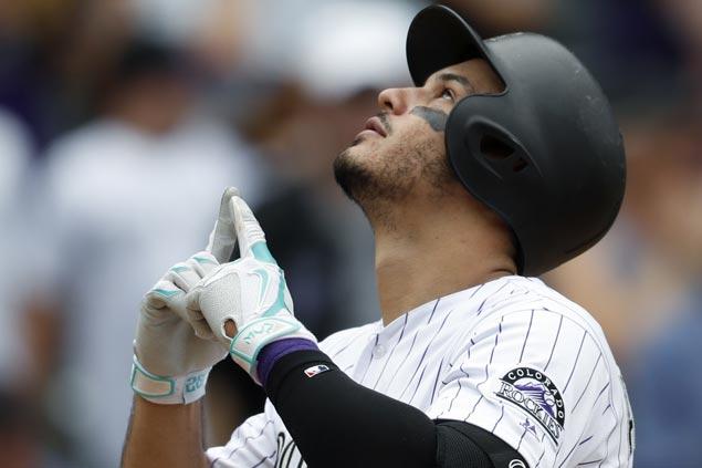 Nolan Arenado hits three homers, ties career-high seven RBI as Rockies rip Padres
